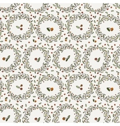 Seamless floral pattern of curved spring vector