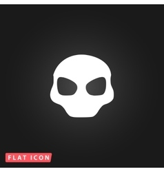 Alien head icon vector