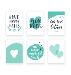 Heart shape cards set vector