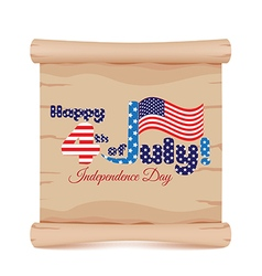 4th of july independence day and parchment sign vector