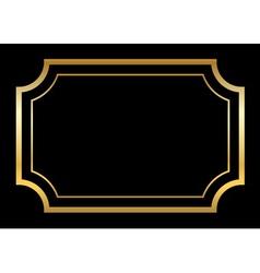 Gold frame Beautiful simple golden black design vector image
