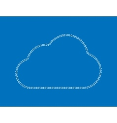 Cloud computing binary numbers vector