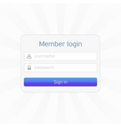Member login form vector image