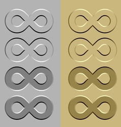 Abstract unlimited stone carved symbol vector
