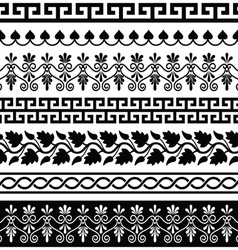 Ancient Greek pattern - seamless set of designs vector image