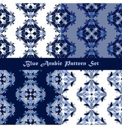 Arabic seamless pattern set vector