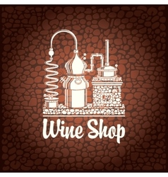 Banner for wine shop vector