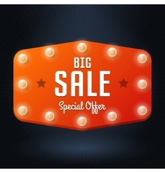 Banner with text big sale billboard in retro style vector