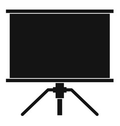 Blank projection screen icon simple style vector