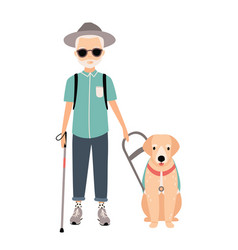 blind man colorful image featuring visually vector image vector image