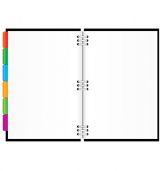diary with colored tabs vector image vector image