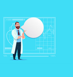 doctor with chat bubble medical clinics worker vector image vector image