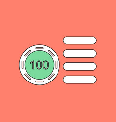 Flat icon design collection casino stuff chip vector