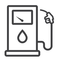gas station line icon petrol and fuel pump sign vector image