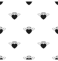 Heart icon in black style isolated on white vector