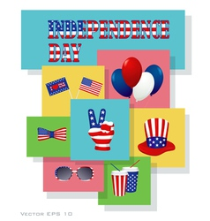 Independence day design elements vector image vector image