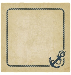 marine background with anchor vector image