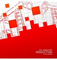 Oil pump mosaic card vector image vector image