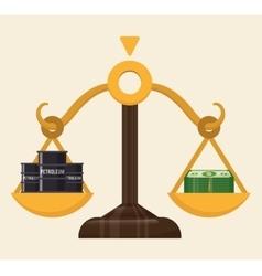 Petroleum price design vector
