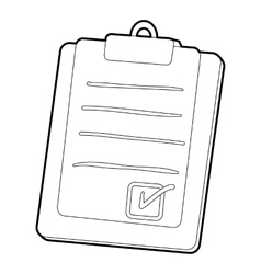 Plane tablet icon outline style vector