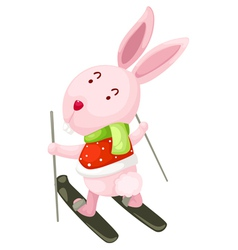 Rabbit ski vector