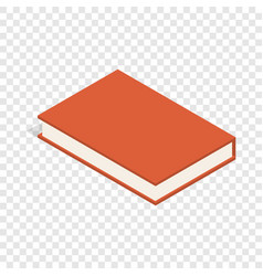 red book isometric icon vector image