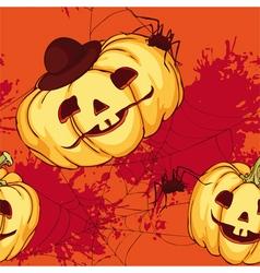 Seamless pattern halloween pumpkin vector