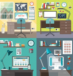 Set of in flat design style modern home or vector