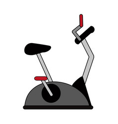spinning bike vector image vector image