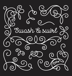 Swashes and swirls set vector