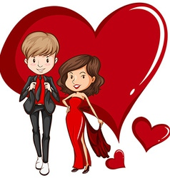 Two gorgeous couple vector