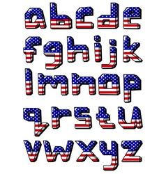 usa small alphabet vector image vector image