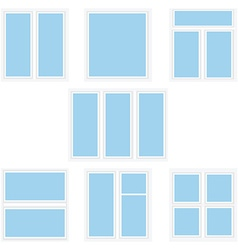 Varios window types vector image