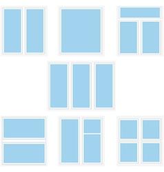 Varios window types vector image vector image
