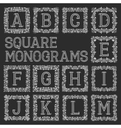 Vintage monograms set letters from a to m in vector