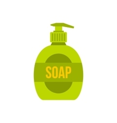 Liquid soap icon flat style vector