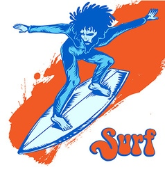 surfer on wave vector image