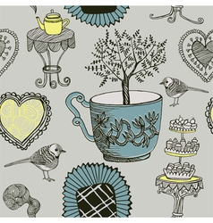 Tea and Birds vector image