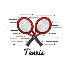 Symbol tennis play icon vector