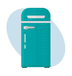 Stainless refrigerator with fashion industrial vector