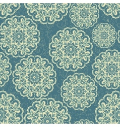 Beautiful blue seamless lace background vector