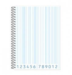 notebook barcode vector image