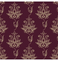 Vintage ethnic flourish seamless pattern vector