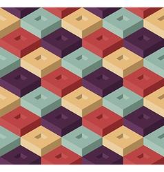 Color cubes pattern vector image