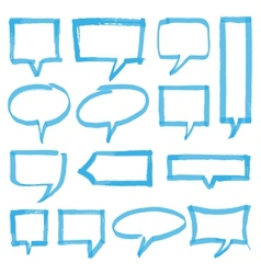 Highlighter speech bubbles design elements vector