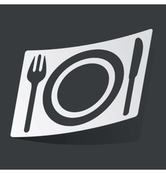 Monochrome dinner sticker vector