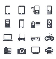 Technology and devices icon vector