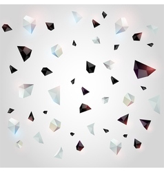 Abstract geometric background with crystals vector