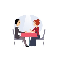 Date in a restaurant daily routine activities of vector