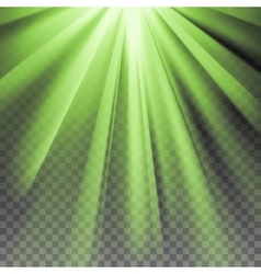 Green flare rays vector